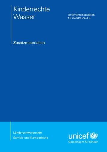 """Kinderrechte Wasser - Zusatzmaterialien"" (PDF) - younicef.de"