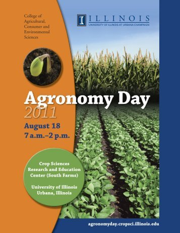 2011 Agronomy Day Program