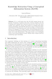 Knowledge Extraction Using a Conceptual Information System (ExCIS)