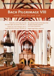 Bach Pilgrimage VIII works from the year 1726 - Miguel Felipe