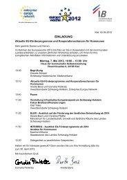 Einladung 07.05.2012 - EEN - Hamburg / Schleswig-Holstein