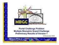 Portal Challenge Version 1 - NIST Visual Image Processing Group