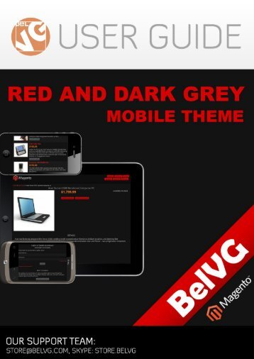 Red and Dark Grey Mobile Theme - BelVG Magento Extensions Store