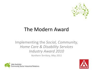 The Modern Award - Australian Council of Social Service