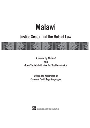 Justice Sector and the Rule of Law - AfriMAP