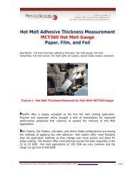 Hot Melt Adhesive Thickness Measurement MCT360 Hot Melt ...