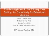 Martin Cheatle, PhD (Overview) - Society of Behavioral Medicine