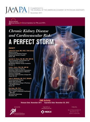 Chronic Kidney Disease and Cardiovascular Risk: A Perfect Storm
