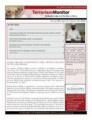 Volume VIII, Issue 2 January 14, 2010 - The Jamestown Foundation