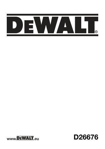 N137923 man planer D26676-B5.indd - Service - DeWALT