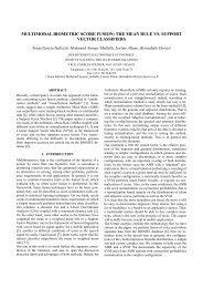 multimodal biometric score fusion: the mean rule vs ... - Eurasip
