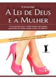 A Lei de Deus e a Mulher na Igreja - Livros evangélicos