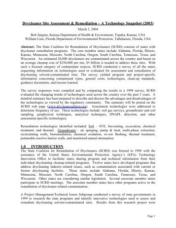 Download Document (PDF) - State Coalition for Remediation of ...
