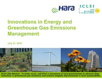 View the Presentation Slides - ICLEI Local Governments for ...
