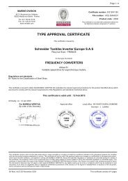 TYPE APPROVAL CERTIFICATE - Schneider Electric