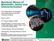 Residual Stress of Bimetallic Joints and Characterization