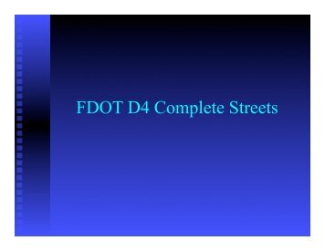 FDOT D4 Complete Streets