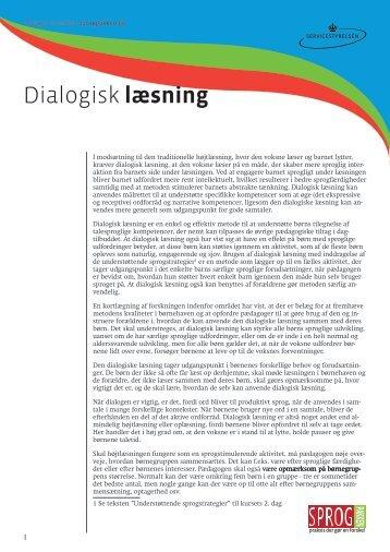 Dialogisk læsning tekst.pdf - SPROGPAKKEN:DK