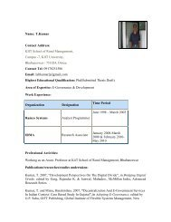 Mr.T. Kumar - Indian Institute of Public Administration