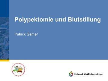 Polypektomie und Blutung, Gerner, Endoskopieseminar 2012