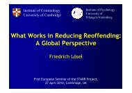What Works in Reducing Reoffending: A Global Perspective