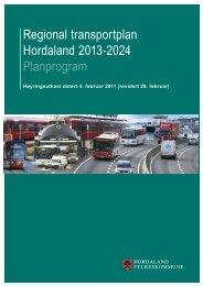 Planprogram - Hordaland fylkeskommune