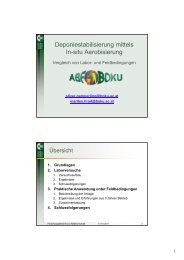 Deponiestabilisierung mittels In-situ Aerobisierung - Boku