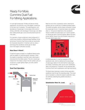 Ready For More. Cummins Dual Fuel™ For Mining Applications.
