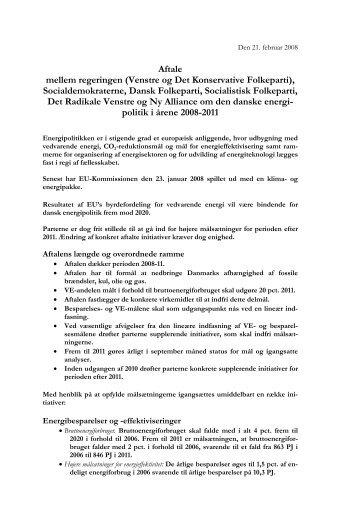 Aftale mellem regeringen (Venstre og Det Konservative Folkeparti ...