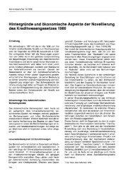 Hintergründe und ökonomische Aspekte der Novellierung des ... - Wifo