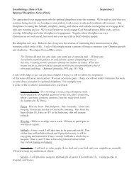 Sept. 2 Insert Restoring Spiritual Disciplines - Establishing a Rule of ...