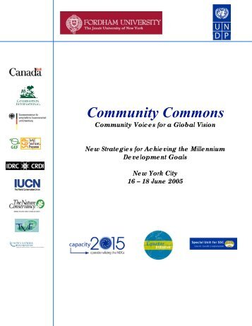 Community Commons: New Strategies for ... - Equator Initiative