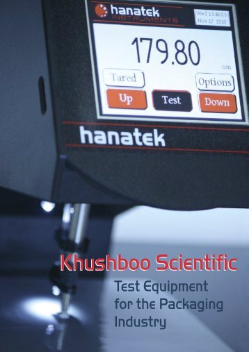 Download Brochure - Khushboo Scientific Pvt. Ltd.