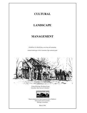 Cultural Landscape Management - Australian Alps National Parks