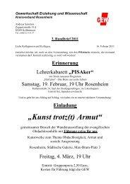"Einladung ""Kunst trotz(t) Armut"" - GEW Rosenheim"