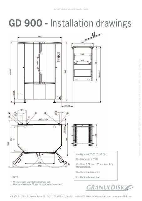 Gd 900 Installation Drawings Granuldisk