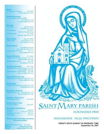 September 30, 2007 - St. Mary Parish