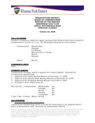 wheaton park district board of commissioners minutes of the meeting ...