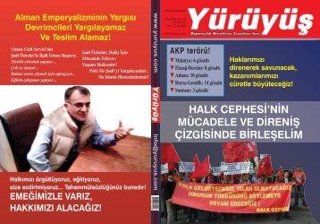 KAZANIMLARIMIZI CÜRETLE BÜYÜTECEĞİZ! - Yürüyüş