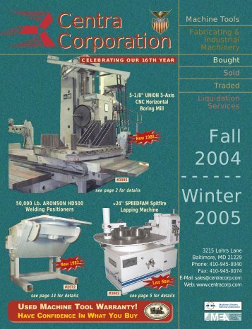 Centra Corporation Centra Corporation - Used Equipment Network
