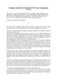 Compte rendu de la réunion de CICA sur le logement - Association ...