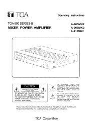A-903MK2, A-906MK2, A-912MK2 Mixer Power ... - All Pro Sound