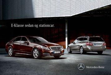 E-Klasse sedan og stationcar.