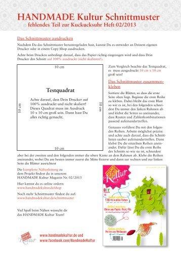 Hausfront-Schnittmuster (PDF) - Handmade Kultur