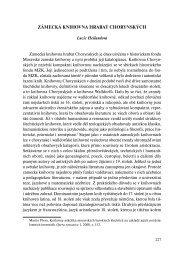 ZÁMECKÁ KNIHOVNA HRABAT CHORYNSKÝCH - Vědecká ...