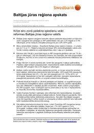 Baltijas jūras reģiona apskats - Swedbank
