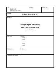 FYS3230 Analog til digital omforming