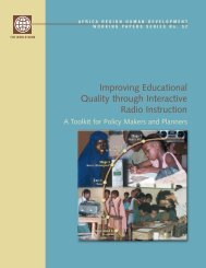 Improving Educational Quality through Interactive Radio Instruction ...