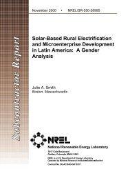 Solar-Based Rural Electrification and Micro-Enterprise ... - NREL