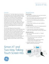 Simon XT and Two-Way Talking Touch Screen Kits FPO - Interlogix